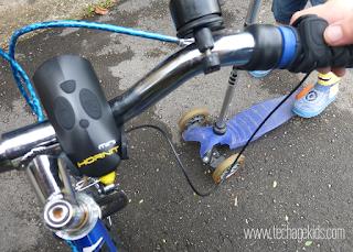 Bike light on handlebars