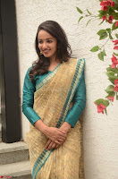 Tejaswi Madivada looks super cute in Saree at V care fund raising event COLORS ~  Exclusive 060.JPG