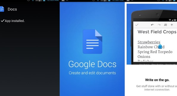 Google Docs Free Download on Android App