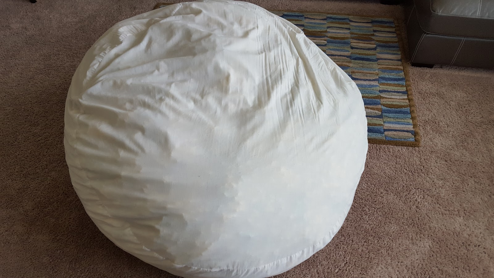 How To Sew Bean Bag Chair Light Blue Giant Tutorial So Much Make Once The Insert Is Filled Pin It Closed Then Up Or Zip If You Made Your With A Zipper