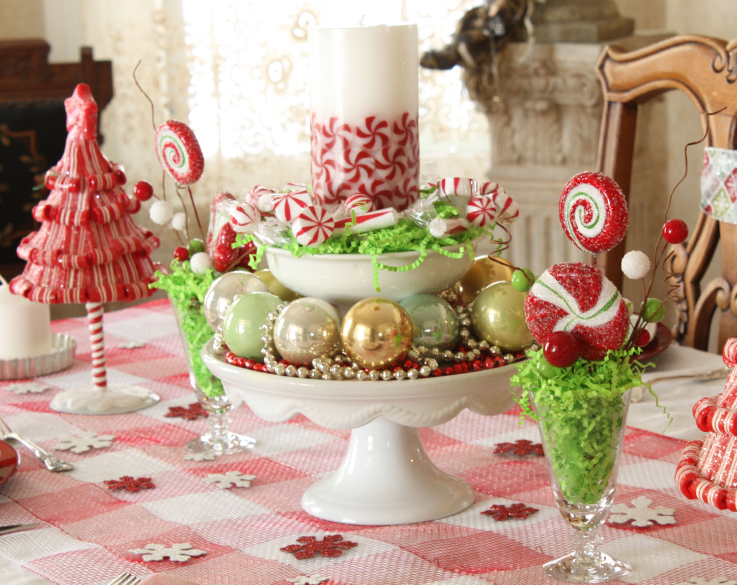French Laundry Christmas Peppermint Tablescape 2011