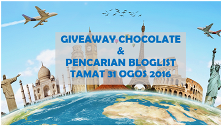 Giveaway Chocolate + Pencarian Bloglist