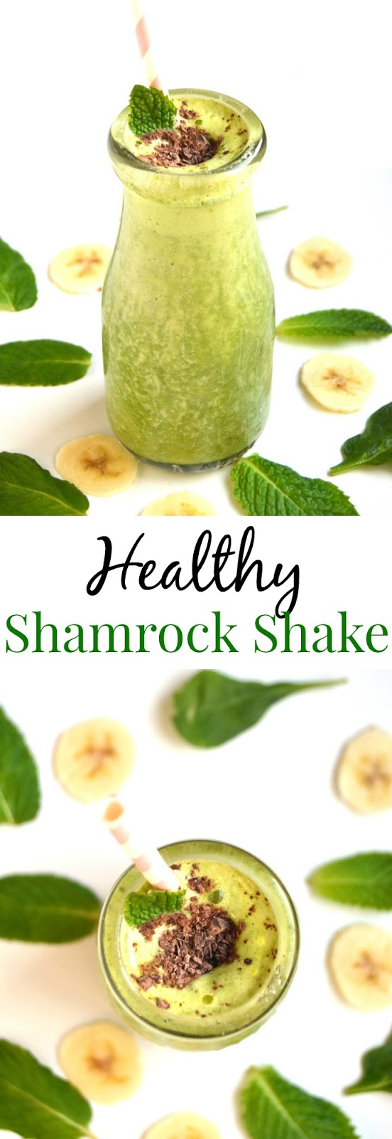 Healthy Shamrock Shake is a lighter take on your favorite St. Patrick's Day shake that takes 5 minutes to make and is perfect for dessert, a snack or breakfast. www.nutritinistreviews.com