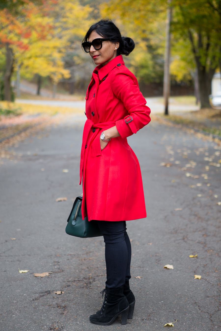 winter coat, j.crew, winter style, winter fashion, fall fashion, petite coat, petite style, red coat, cashmere, womens trench, trench coat, warm coat, dreyfussnandco, paige jeans, petite blogger, preppy style, dressy coat, colorful