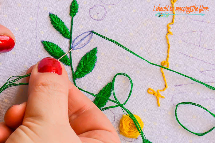 Stitching Leaves