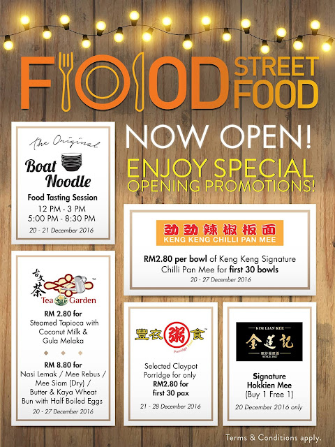 Sunway Velocity Mall Food Street Precinct Opening Promo