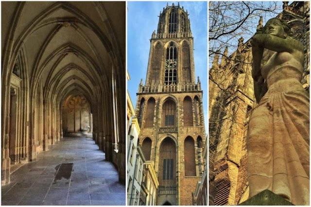 Claustro gotico – Domtoren – Estatua en Utrecht