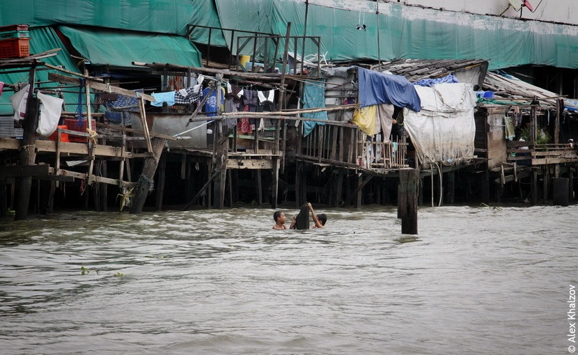 Тайцы плавают