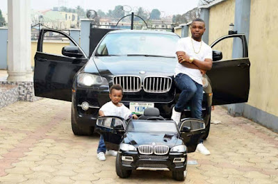Nigerian Socialite 'Eze Money' Gets Son A Matching BMW Jeep For His 1st Birthday (Photos)