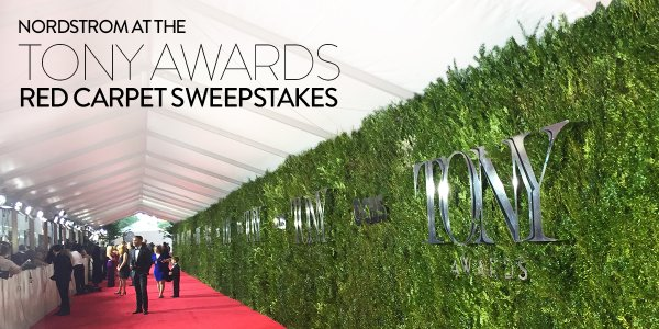 Nordstrom is celebrating the fact that they are official red carpet sponsor at The 70th Annual TONY Awards by giving you a chance to enter once to win a $500 Gift Card!