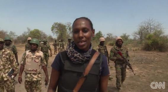 Brave CNN reporter Nima Elbagir visits the sambisa forest