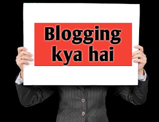 What is a blogging in Hindi