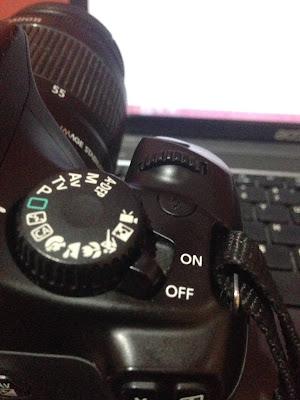 kamera dslr posisi off atau mati digitografi