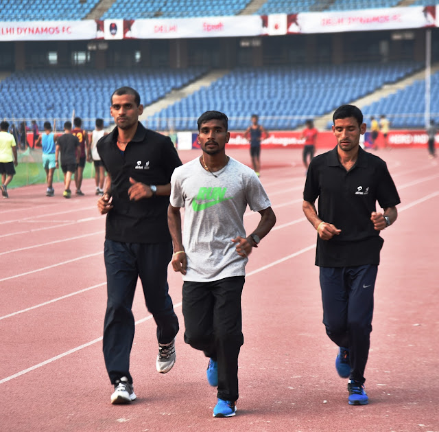 Top Indian Men Athletes training at the JNS Stadium