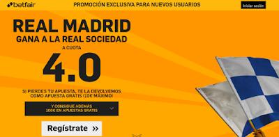 betfair Real Madrid gana Real Sociedad supercuota 4 Liga 30 abril