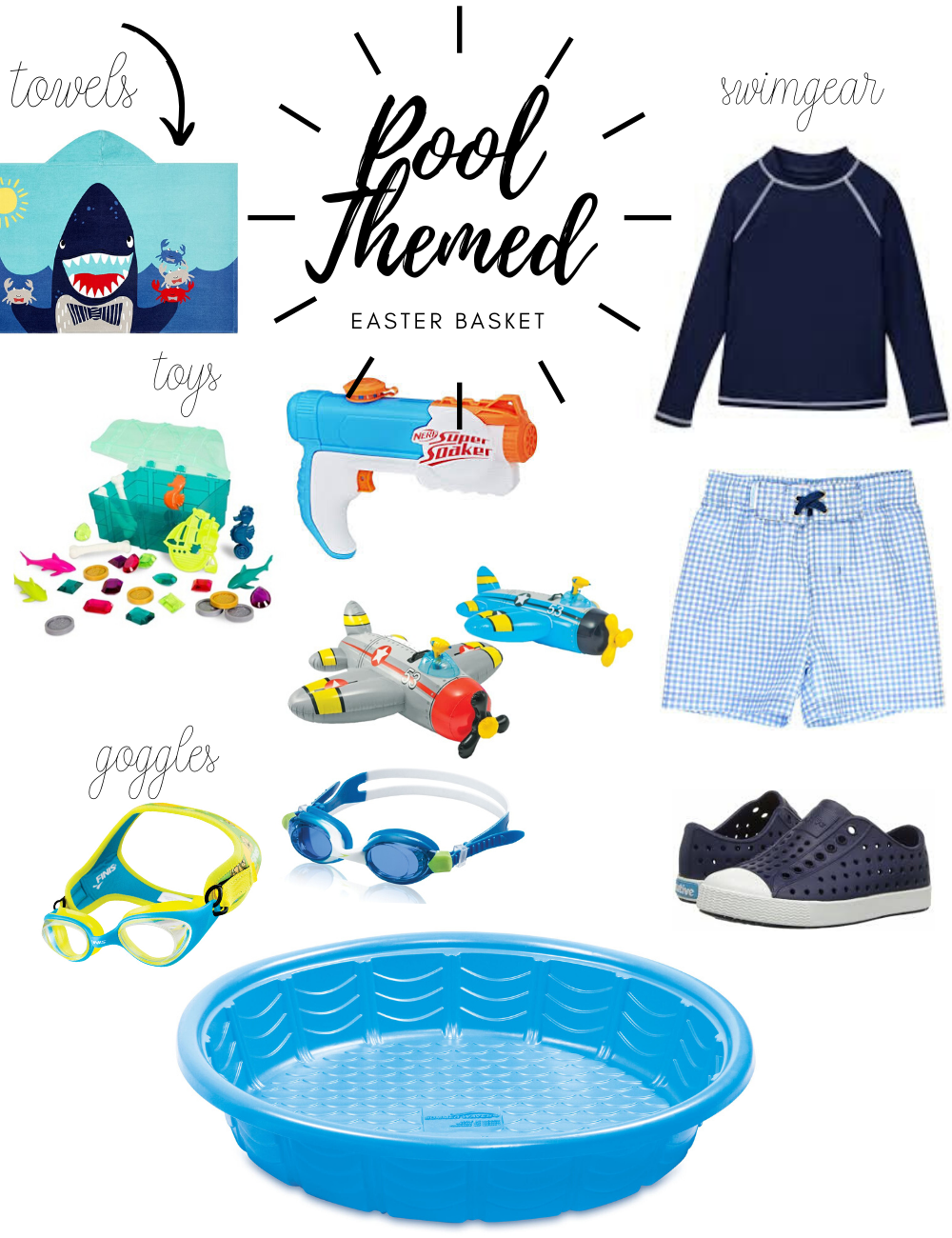 Pool Themed Easter Basket Ideas