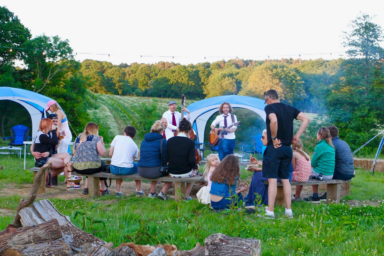 singing by the #GOcation camp fire with Super Tennants