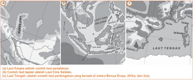 Gambar Contoh Laut Pedalaman, Tepi, dan Pertengahan - Macam-Macam Laut Menurut Letaknya