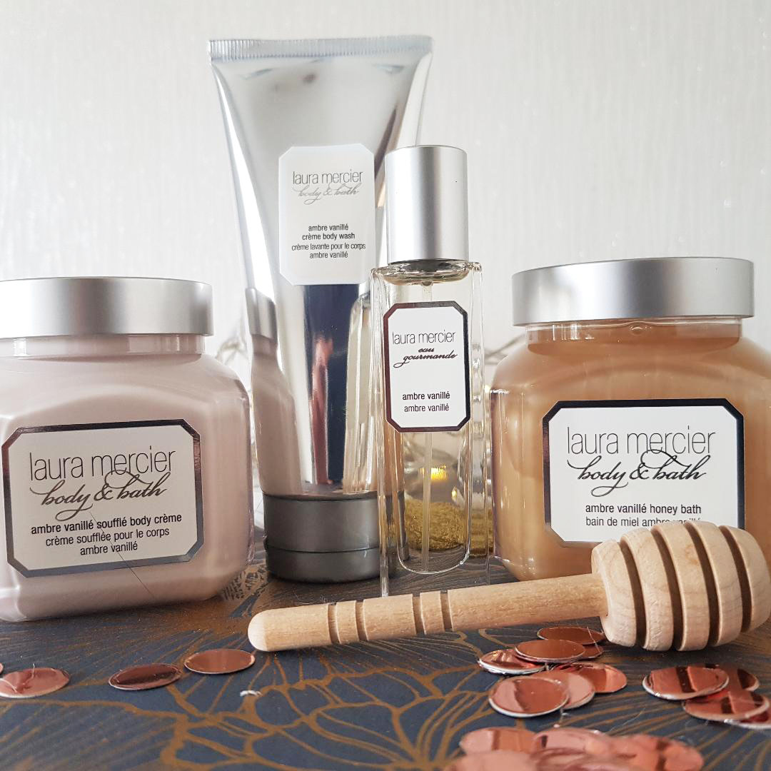 Luxury Laura Mercier body products and beauty from the Body Shop: all in the Christmas haul reported here by British blogger Gail Hanlon.