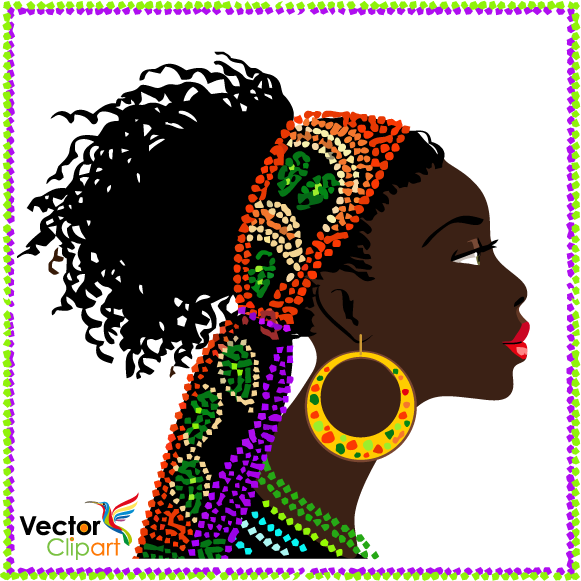 Mujer africana - Vector