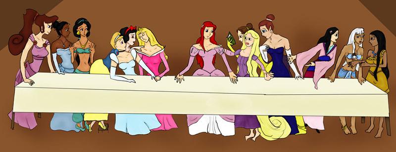 Disney Princess Last Supper by Marytott