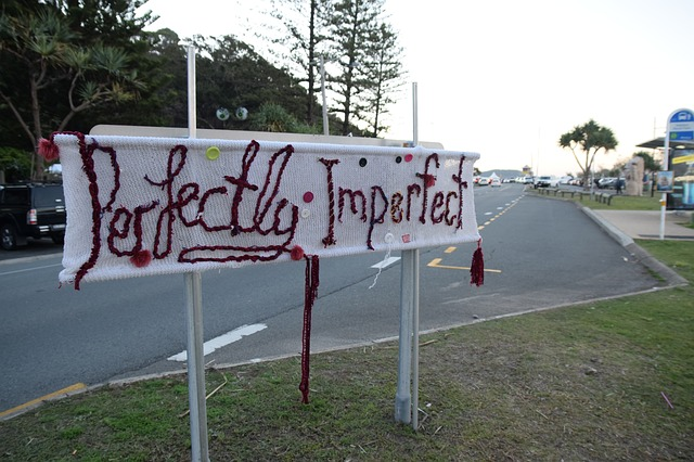 'Perfectly imperfect' woven/embroidered street sign
