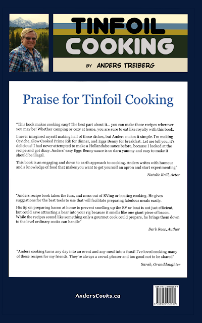 Back Cover of My Book, Tinfoil Cooking