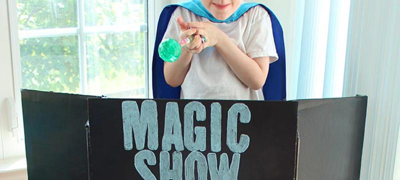 Put on a Disney Junior Inspired Magic Show with a DIY Magician's Table
