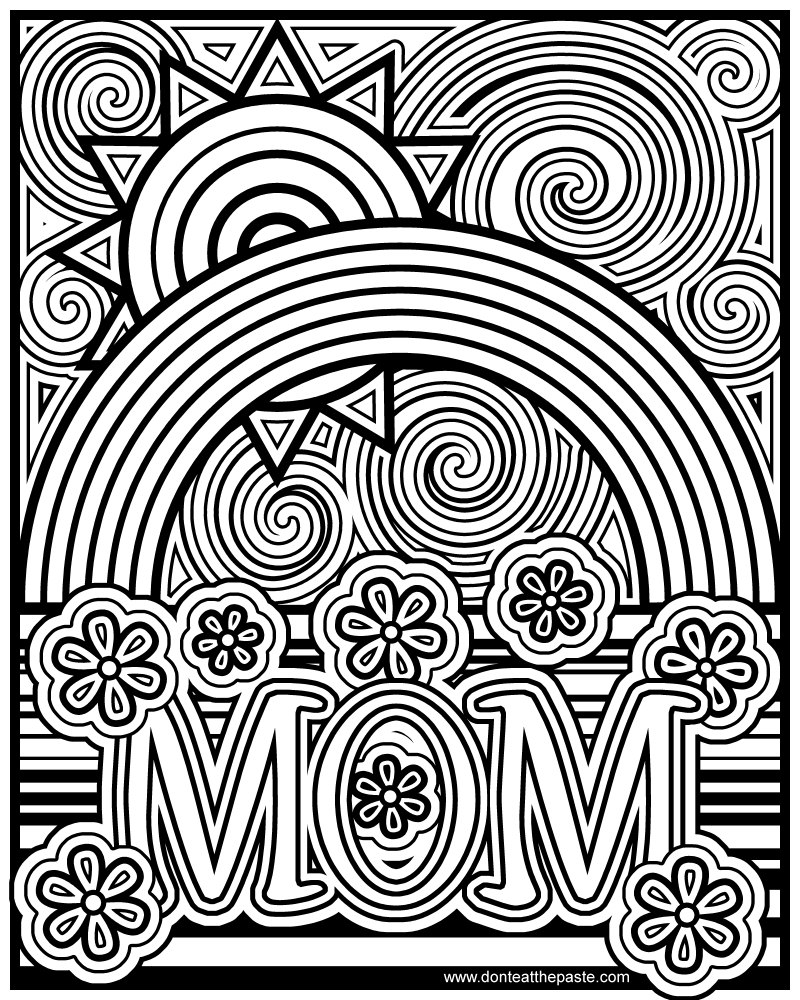 Don 39 t eat the paste mom coloring page for Coloring pages mother
