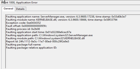 Latent Geek: Server manager keeps crashing