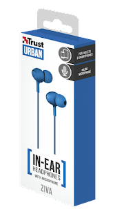 Trust cuffie in-ear 21951 blue