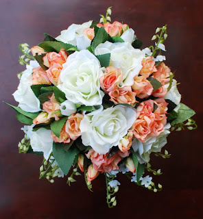 elegant fake silk wedding bouquets