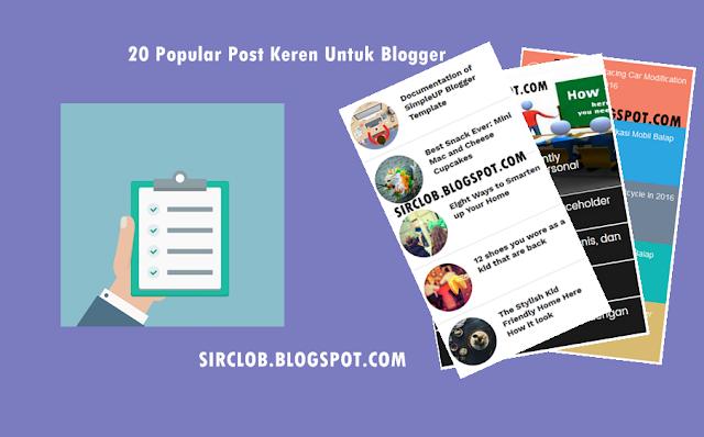 20 Popular Post Keren Untuk Blogger