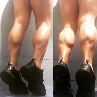 Women muscular calves