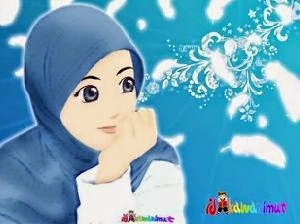 Kumpulan Gambar Kartun Cantik Islami Wajah Manis