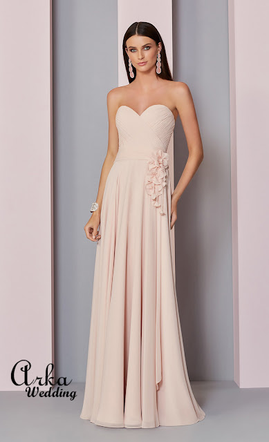 e6447b711a43 ΝΥΦΙΚΑ ARKAWEDDING  Βραδινό Φόρεμα Στράπλες Καρδούλα