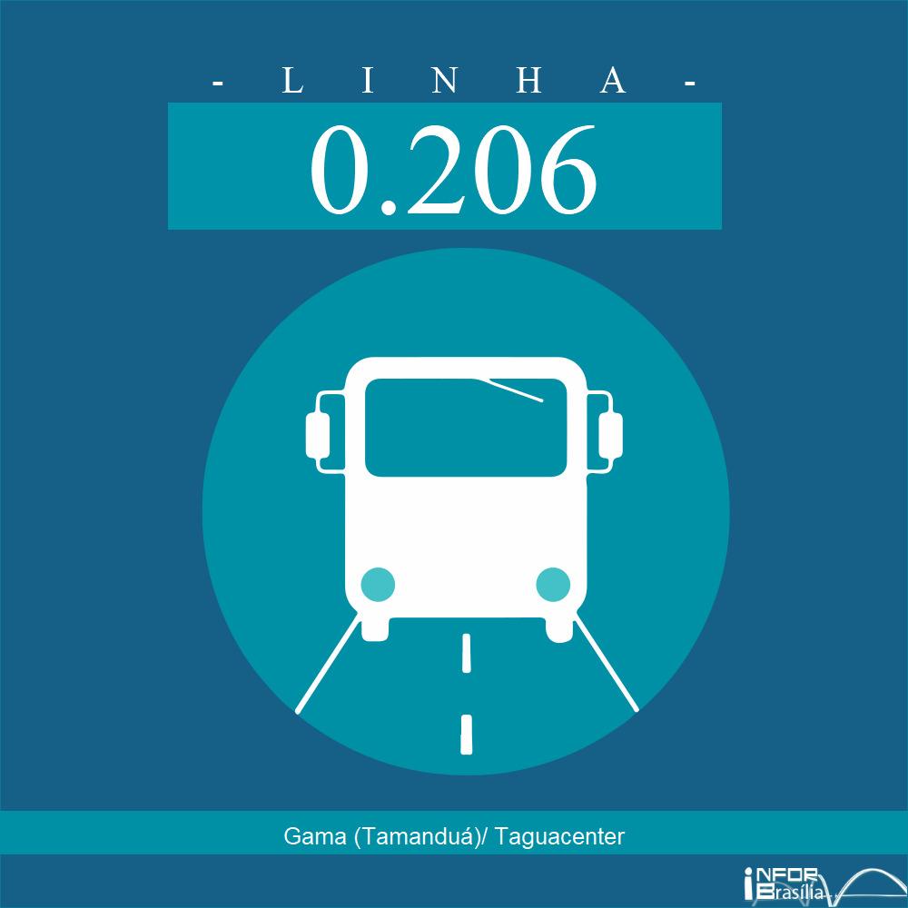 Horário de ônibus e itinerário 0.206 - Gama (Tamanduá)/ Taguacenter