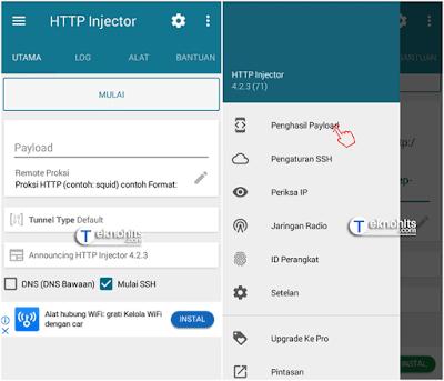 Mulai membuat Payload HTTP Injector