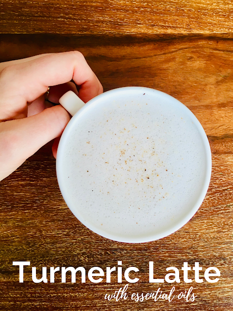bulletproof turmeric latte with essential oils - www.mywholefoodfamily.com