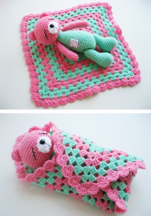 Sleeping Teddy Bear - Free Pattern