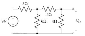 Un circuit avec une source de tension
