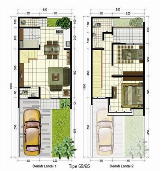 gambar denah rumah lantai 2 minimalis 3