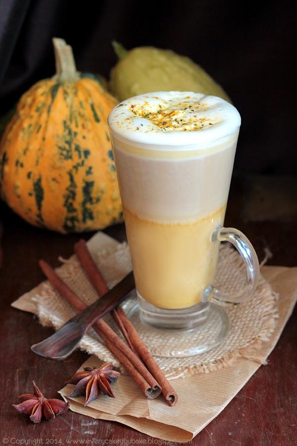 dyniowa korzenna kawa latte