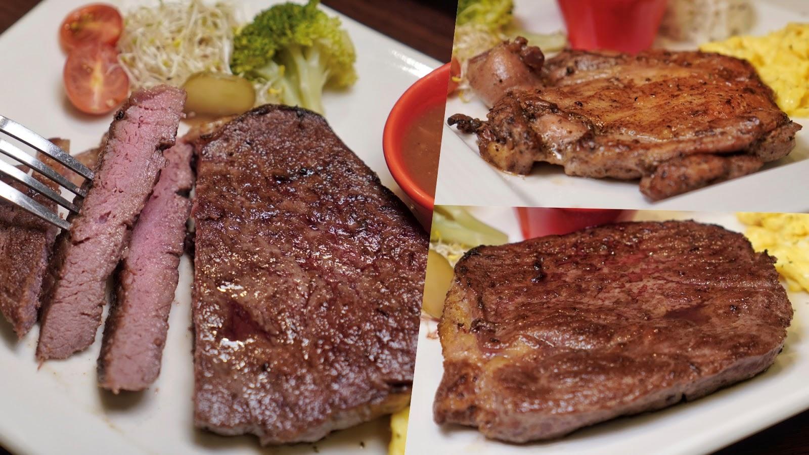 台南東區美食【大大力牛排館】台南平價排餐推薦,主打無油煙的瓷盤牛排,二樓還有沙拉吧吃到飽!