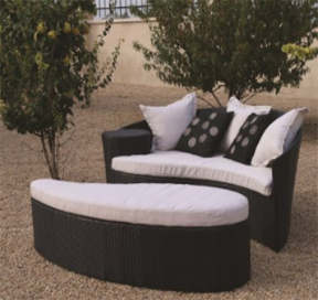 Oceans Rattan Furniture - Fiji Rattan Outdoor Garden Daybed, Outdoor Furniture, Curved Patio Furniture, Modern Curved Sectionals, Curved Sectional, Curved Patio Furniture,