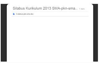 Silabus Kurikulum 2013 Bahasa Indonesia dan PPKN SMA