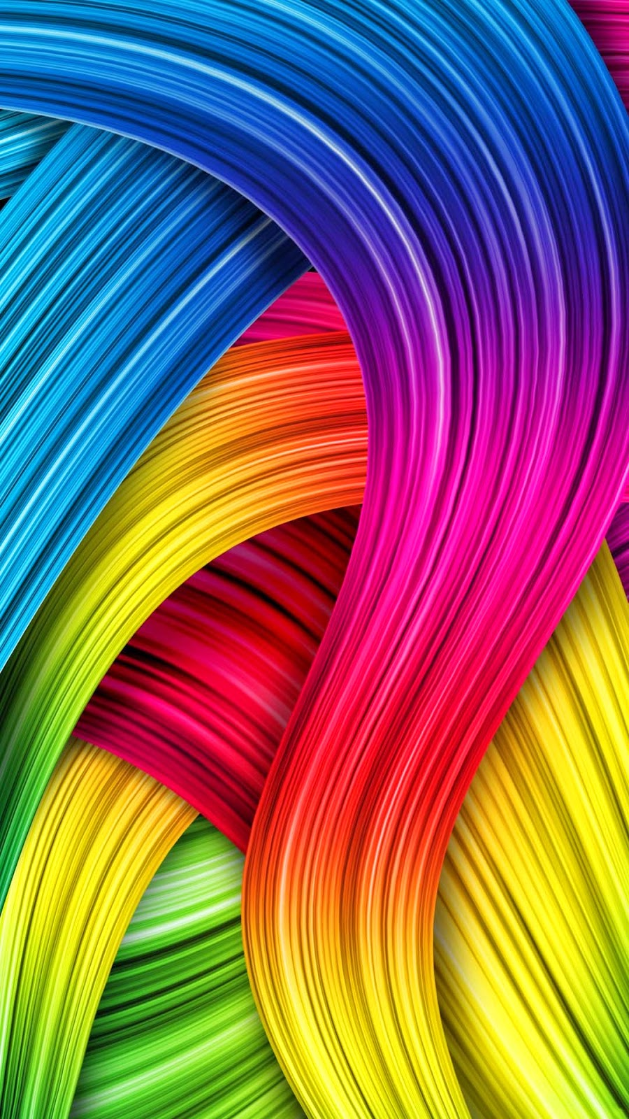 Desain Wallpaper Abstrak Pelangi - Android Wallpapers