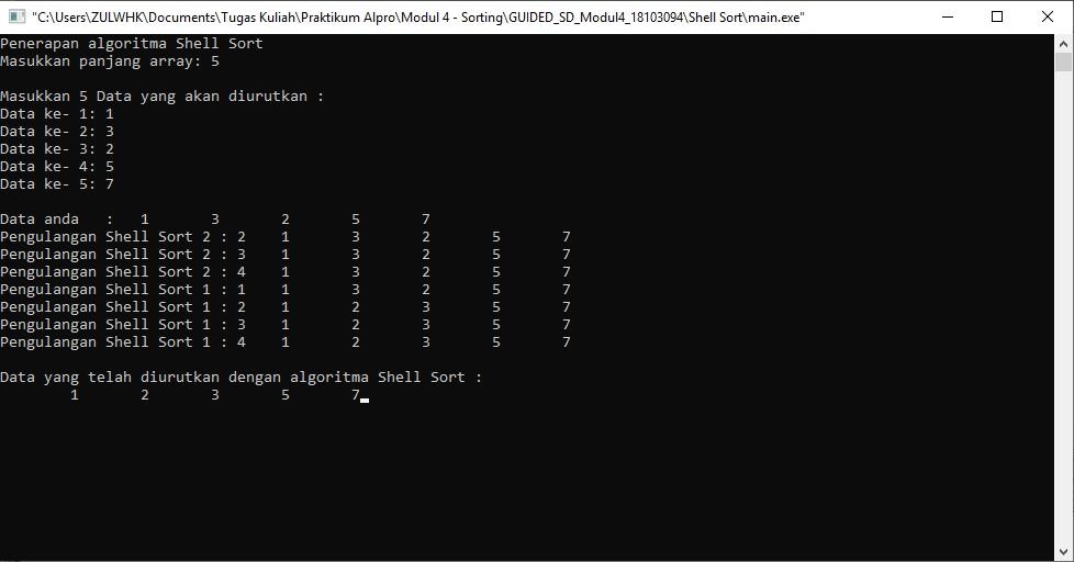 Belajar Pemrograman Materi Sorting pada C++ (Shell Sort, Radix Sort, Merge Sort, Quick Sort)