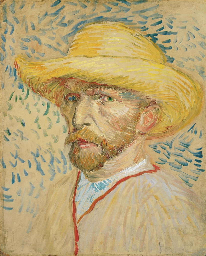 art artists vincent van gogh self portraits 1887 self portrait straw hat oil on cardboard 40 5 x 32 5 cm paris summer 1887