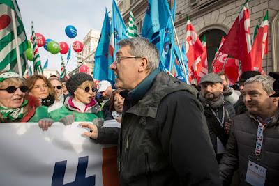Cgil, Cisl e Uil : manifestazione del 9/2/2019 contro il governo